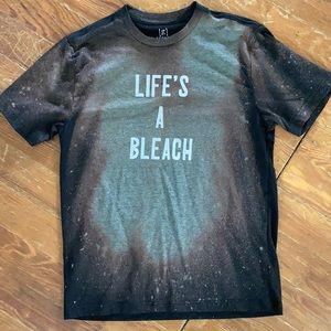 Life's a Bleach Black Bleached T-Shirt Graphic Tee